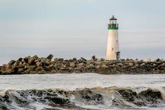 Santa Cruz falochronu światła Walton latarnia morska obrazy royalty free