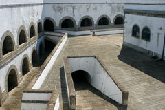 Santa Cruz Fortress at the Guanabara Bay. Detail of the Santa Cruz Fortress at the Guanabara Bay Stock Images
