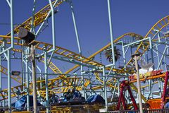 Santa Cruz Fun Park & Rollercoaster Royaltyfri Fotografi