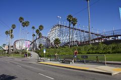 Santa Cruz Fun Park & Rollercoaster Royalty Free Stock Photography