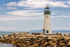 Santa Cruz Harbor Lighthouse - Walton Lighthouse arkivfoto
