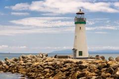 Santa Cruz Harbor Lighthouse - Walton Lighthouse Stock Photo