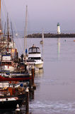 Santa Cruz Harbor protected by the Walton Lighthouse Royalty Free Stock Photography