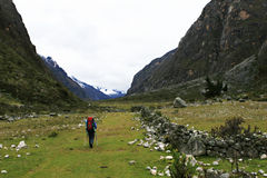Santa Cruz Hiker - Huascaran National Park, Peru Stock Photos