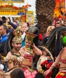 SANTA CRUZ, HISZPANIA karnawałowa parada 2013 Obrazy Stock