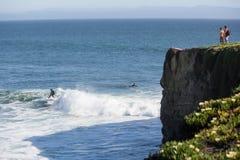Santa Cruz Kalifornien surfa Arkivbild