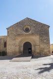 Santa Cruz kyrka, Baeza, Spanien Fotografering för Bildbyråer