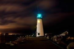 Santa Cruz latarnia morska na piątkowej nocy zdjęcie stock