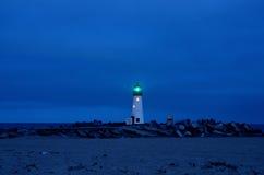 Santa Cruz Lighthouse an einem Freitag Abend Stockfotografie