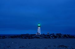 Santa Cruz Lighthouse on a Friday Night Stock Photography