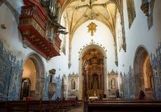 Santa Cruz Monastery in Coimbra. Portugal. Stock Photos