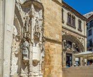 Santa Cruz Monastery em Coimbra portugal Imagens de Stock Royalty Free