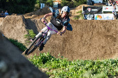 Santa Cruz Mountain Bike Festival - Post Office Jumps Stock Image