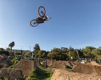 Santa Cruz Mountain Bike Festival - Post Office Jumps Royalty Free Stock Image