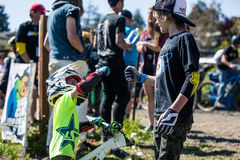 Santa Cruz Mountain Bike Festival - Post Office Jumps Royalty Free Stock Images