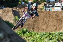 Santa Cruz Mountain Bike Festival - stolpe - kontorshopp Fotografering för Bildbyråer