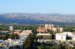Santa Cruz mountains and San Jose Stock Photo