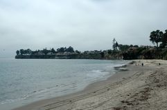 Santa cruz na plaży fotografia stock