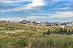 Santa Cruz Outskirt Town, Argentina. Landscape scene of small town located at Santa Cruz province, Argentina Royalty Free Stock Photo