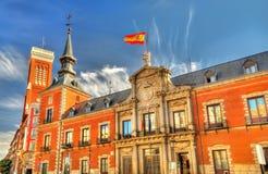 Santa Cruz pałac siedzenie Cudzoziemski - sprawy ministerstwo w Madryt, Hiszpania obraz stock