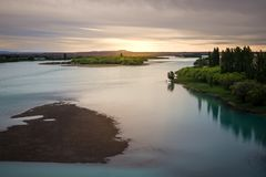 Santa Cruz-rivier in Patagonië, Argentinië royalty-vrije stock foto
