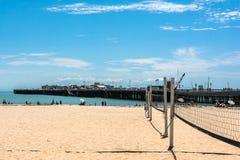 Santa Cruz sand beach, California Stock Photo