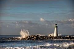 Santa Cruz schronienia Walton latarnia morska zdjęcia stock