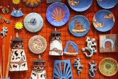 Santa Cruz Seros handcraft le souvenir de céramique image stock