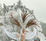 SANTA CRUZ, SPAIN - February 12: The carnival queen greets the v Stock Photos
