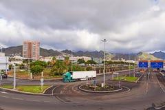 Santa cruz street Stock Image