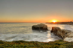 Santa Cruz. Sunset at Santa Cruz, California, USA royalty free stock photos