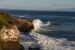 Santa Cruz Surf. Waves hitting the cliffs at Natural bridges in Santa Cruz stock images