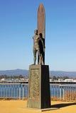 Santa Cruz Surfingowa Statua w Kalifornia obraz stock