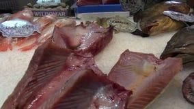 Santa Cruz, Tenerife, Canary islands, Spain, November 2015 - fresh fish market. Santa Cruz, Tenerife, Canary islands, Spain, November 2015 -  fresh fish market stock video