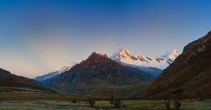 Santa Cruz trek mountain in peru Stock Photography