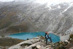 Santa Cruz Trek - parque nacional de Huascaran, Perú Fotografía de archivo