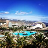 Santa Cruz View from the Palmetum. & x28;Tenerife& x29; - Islas Canarias, Spain stock photography