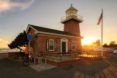 Santa Cruz-vuurtorenmuseum een gedenkteken aan surfers royalty-vrije stock afbeeldingen