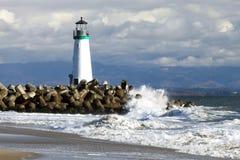 Santa Cruz Walton Lighthouse Arkivfoto