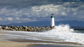 Santa Cruz Walton Lighthouse Arkivbild