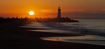 Santa Cruz Walton Lighthouse in the morning Stock Photos
