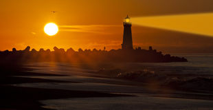 Santa Cruz Walton Lighthouse in the morning Royalty Free Stock Images