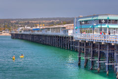 Santa Cruz Wharf Royalty Free Stock Images