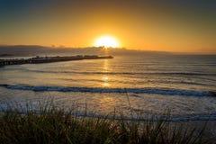 Santa Cruz Wharf Sunrise stock afbeelding