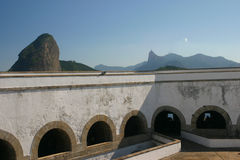 Santa- Cruzfestung am Guanabara Schacht Stockbilder