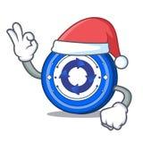 Santa Cryptonex coin mascot cartoon. Vector illustration Royalty Free Stock Images