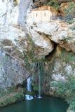 Santa Cueva de Covadonga, Cangas de OnÃs, Espanha fotos de stock royalty free