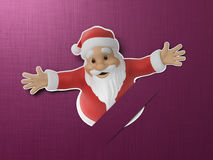 Santa cut out of paper Stock Image