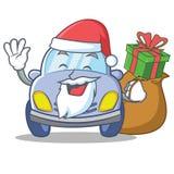 Santa cute car character cartoon Stock Images