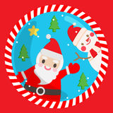 Santa  cute. Santa cute snowman  christmas xmas Stock Photos